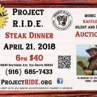 Project R.I.D.E. Inc. Steak Dinner Fundraiser