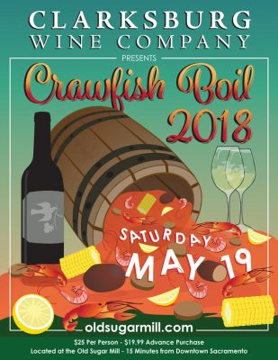 Clarksburg Wine Company Crawfish Boil 2018 (SOLD OUT)