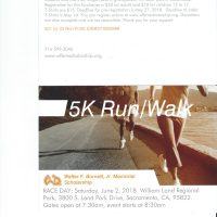 Walter F. Burnett Jr. Memorial Scholarship 5K Run Walk Fundraiser