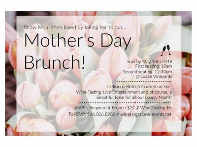 Grace Vineyards Mother's Day Brunch