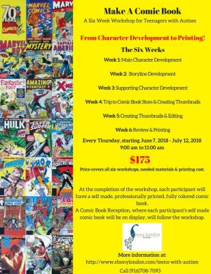 Make A Comic Book Workshop for Teens with Autism