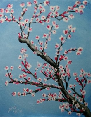 Cherry Blossom Painting and Vino Class