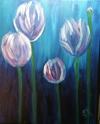 Calla Lillies Painting and Vino Class