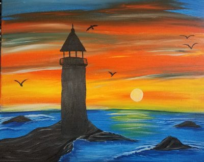 The Lighthouse Painting and Vino Class