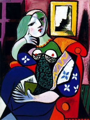 Picasso Lady with Book Paint and Sip