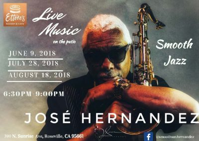 Live Music on the Patio: Smooth Jazz with Saxophonist Jose Hernandez
