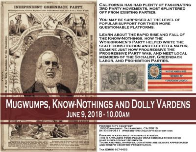 Mugwumps, Know-Nothings and Dolly Vardens