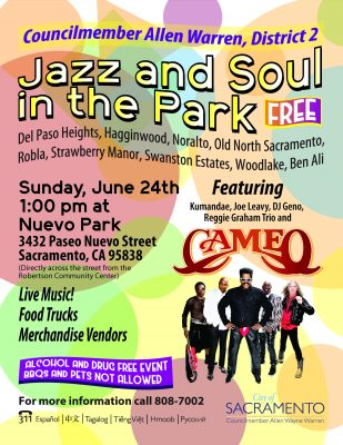 District 2 Jazz and Soul in the Park Featuring Cameo