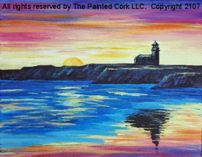 Paint and Sip: Steamer's Lane Lighthouse