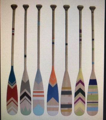 Painted Decorative Oar