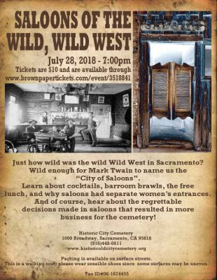 Saloons of the Wild, Wild West