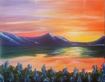 Painting and Vino: Mountain Sunset