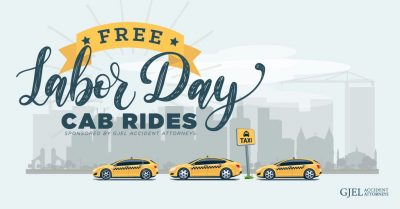 Labor Day Cab Rides from GJEL Accident Attorneys