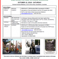 California Vietnam Veterans Memorial Anniversary Dedication Ceremony