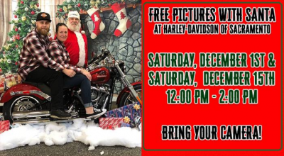 Pictures With Santa at Harley-Davidson