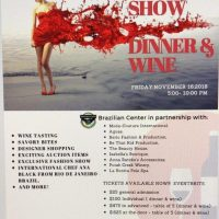 Brazilian Center For Cultural Exchange of Sacramento Fashion Show, Dinner and Wine Event