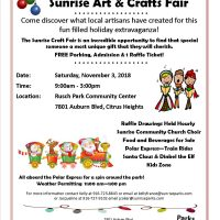 5th Annual Sunrise Art and Crafts Fair