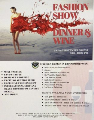 Fashion Show, Dinner, and Wine Event