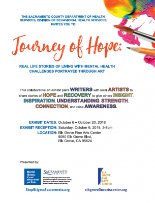 Journey of Hope: Real Life Stories of Living with Mental Health Challenges Portrayed Through Art