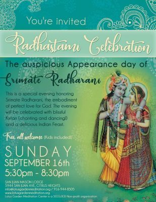 Radhastami Celebration