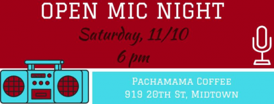 Open Mic Night and Art Pop-Up