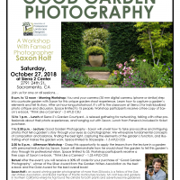 Good Garden Photography Lunch, Lecture and Workshop