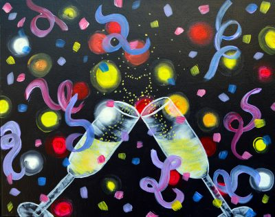 Paint and Sip: Champagne Celebration