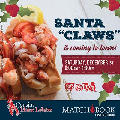 Santa Claws is Coming to Town with Cousins Maine Lobster