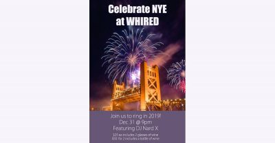 New Year's Eve at WHIRED Wine Bar