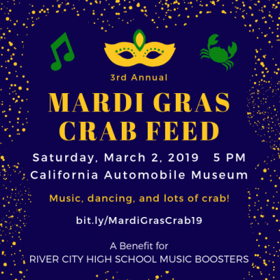 River City High School Music Boosters' Mardi Gras Crab Feed 2019