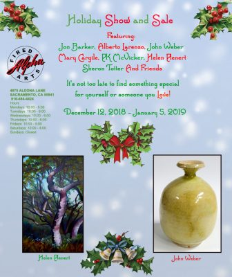 Holiday Show at Alpha Fired Arts