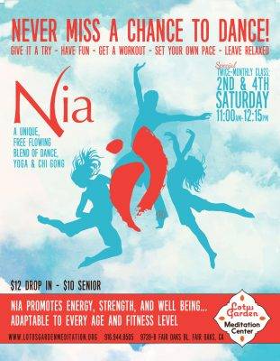 The Nia Technique: Fusion of Yoga, Dance, Qi Gong and Aikido (January)