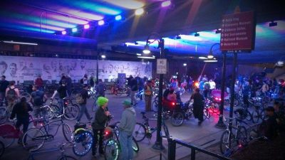 February Bike Party: The Tron Ride