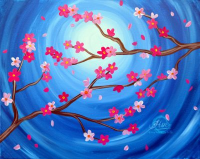 Cherry Blossoms Painting Event