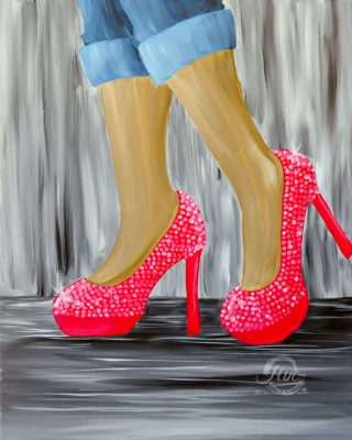 The World Is My Runway Painting Event