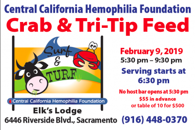 Central California Hemophilia Foundation Surf and Turf Crab Feed 2019