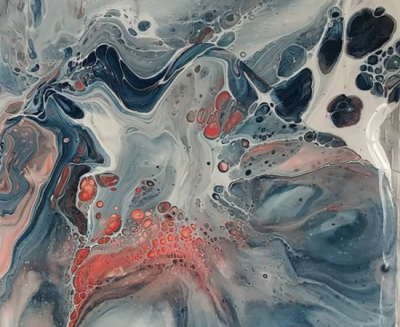 Pour-Over Acrylic Painting