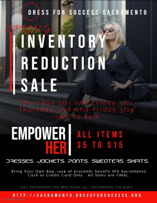 Spring Inventory Reduction Sale