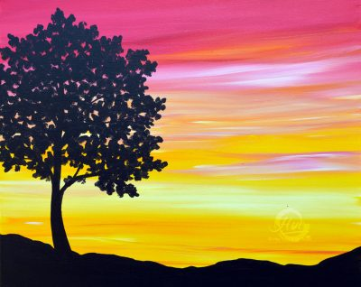 Sherbet Sunset Paint and Sip