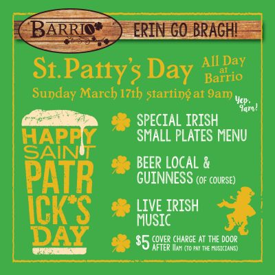 St Patrick's Day at Barrio