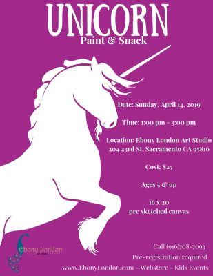 Unicorn Paint and Snack