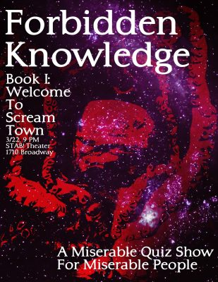 Forbidden Knowledge: A Miserable Quiz Show For Miserable People