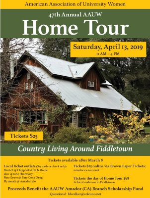 AAUW Home Tour: Country Living Around Fiddletown