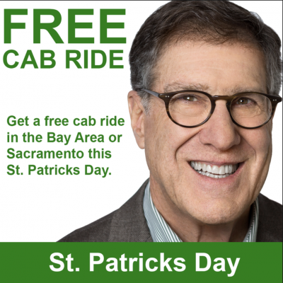 Free St. Patricks Day Cab Ride from GJEL Accident Attorneys