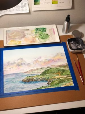 Oceans and Shorelines Watercolor Class