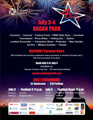 Rancho Cordova 4th of July Weekend