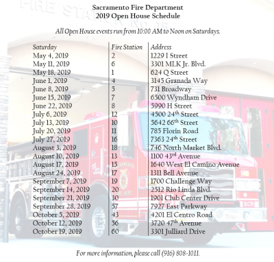 Sacramento Fire Department Open House (Station 15)