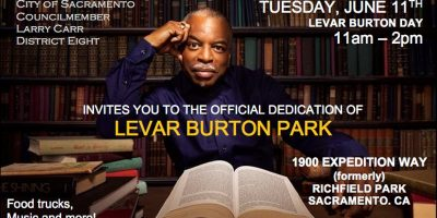 LeVar Burton Park Renaming and Dedication Event