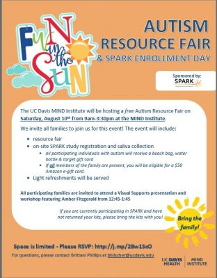 Autism Resource Fair and SPARK Registration Day