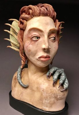 Face to Face: Work in Clay and Pyrography
